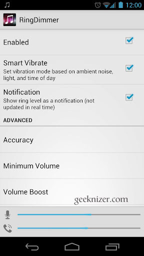 RingDimmer: Auto-Adjust Android Ring Volume based on