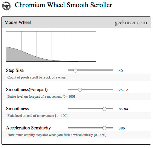 Get iOS like Smooth Kinetic Scrolling on Chrome, Firefox