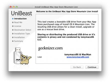 Install OS X 10 8 Mountain Lion on PC Hackintosh [Bootable USB]
