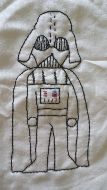 Star Wars: Darth Vader Free Hand Embroidery Pattern