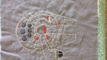 Star Wars: Millennium Falcon Free Embroidery Pattern