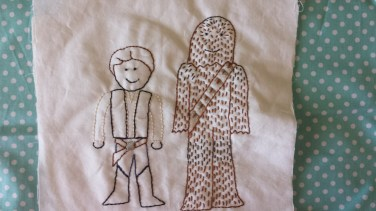 Star Wars: Han Solo and Chewbacca Free Embroidery Pattern