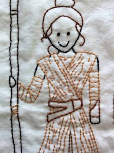 Star Wars The Force Awakens Rey hand embroidery detail free printable