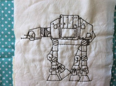 Star Wars AT-AT Walker Hand Embroidery free printable
