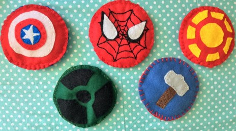 DIY Tutorial and Free Pattern for Marvel Superhero Beanbags- Captain America, Hulk, Spiderman, Thor and Iron Man