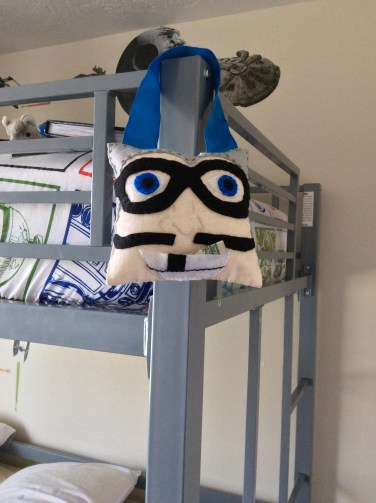 MC Bat Commander from the Aquabats makes an easy tooth fairy pillow!