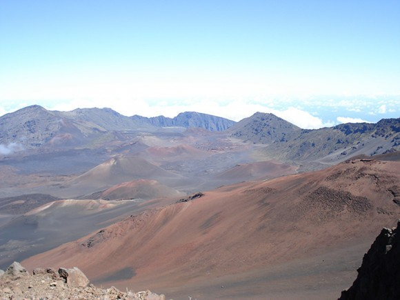 Valleys at the summit of Haleakala