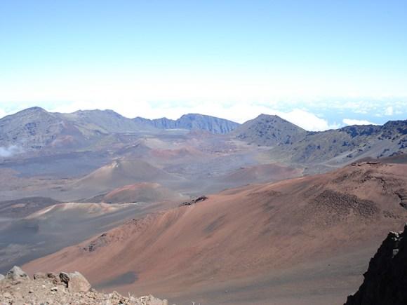 Valleys at the summit of Haleakala