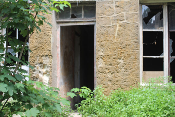 Another entrance to an abandoned cave home.