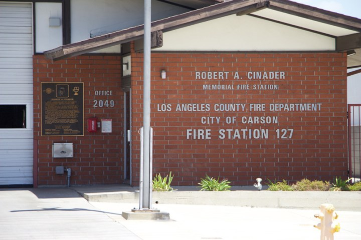 "The memorial badging on Station 127, ""Station 51"" from ""Emergency!""."