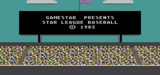 Star League Baseball splashscreen, AtariMania