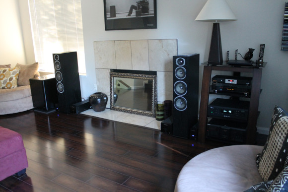 my listening area with the Ultra-X12 installed