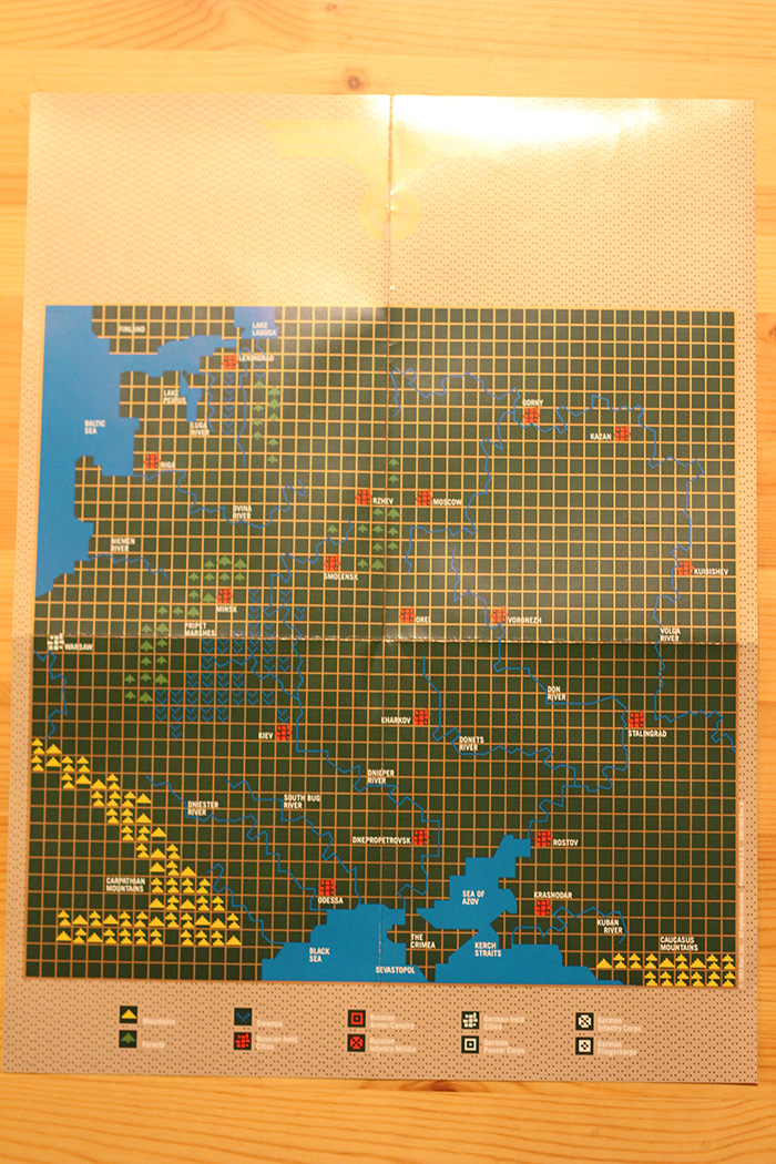 Eastern Front (1941) game-area map.