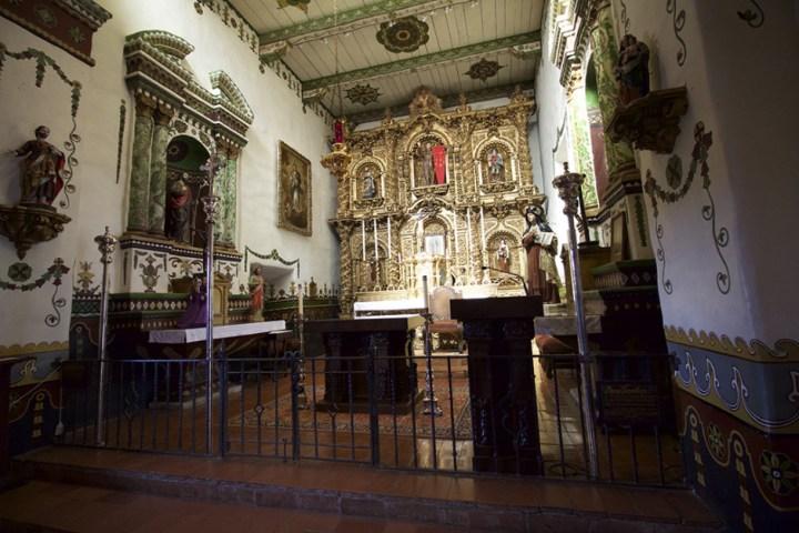 Inside Mission San Juan Capistrano, ISO 1000.