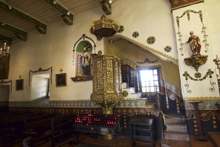 Inside Mission San Juan Capistrano, ISO 1250.