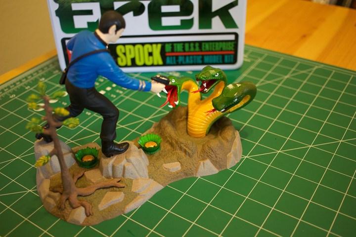 "AMT's ""Mr. Spock"" model kit."