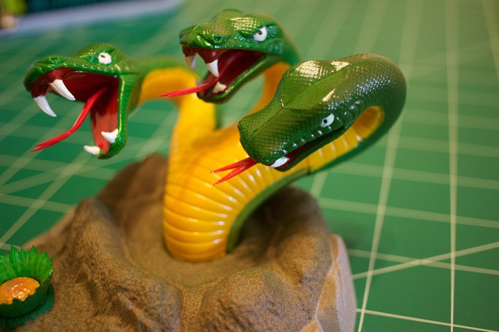 """The 3-headed space serpent from AMT's """"Mr. Spock"""" model kit."""