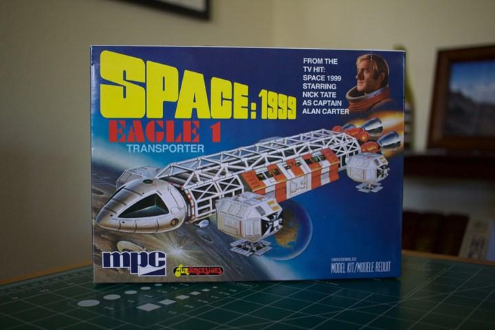 MPC's Space: 1999 Eagle 1 Transporter model kit box.