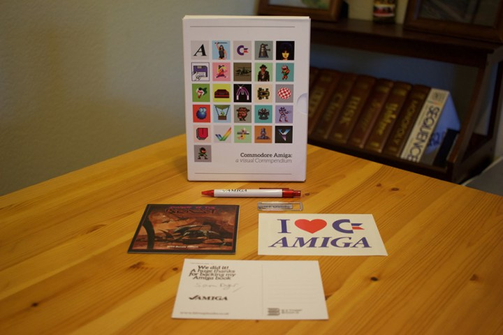 The Amiga Visual Compendium Kickstarter package.