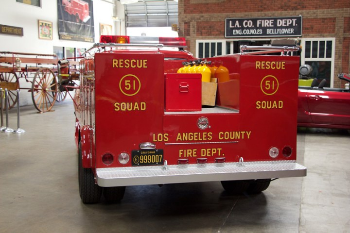 Squad 51, rear view.