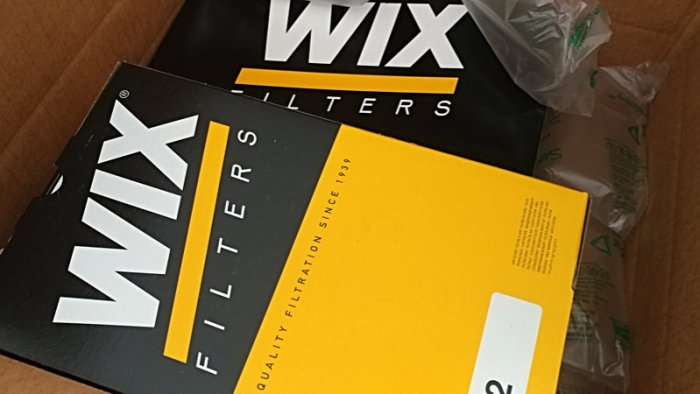 Wix air filters in boxes