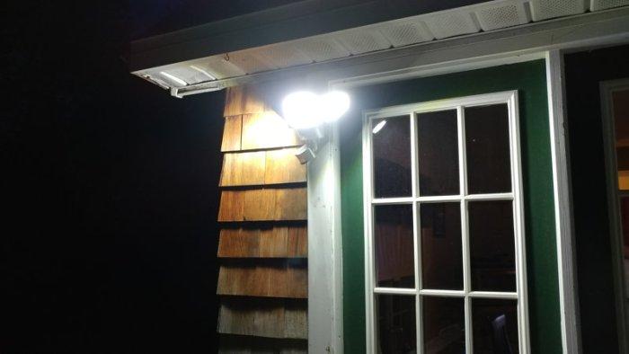Solar light mounted on house