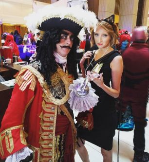 Stephanie Schrenk as Catwoman with Captain Hook.