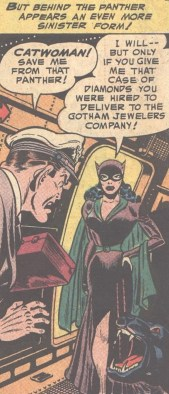 Catwoman as depicted in the 1960s Batman comics
