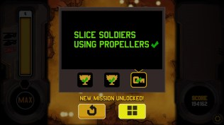 A completed mission shows all of the objectives with a green tick