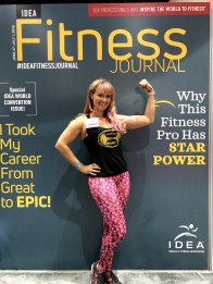 Cover on a fitness Journal Magazine