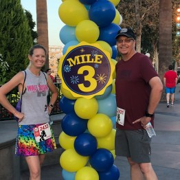 Scott and Jessica at the 3 mile marker