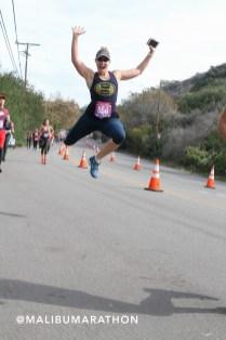 Natalie running MAlibu half marathon 2018