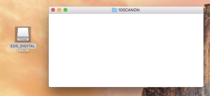 初期化したSDカード