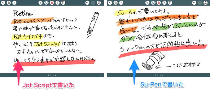 Jotとsu-pen比較