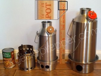 solo stove cooking rings and kelly kettle fire base attached