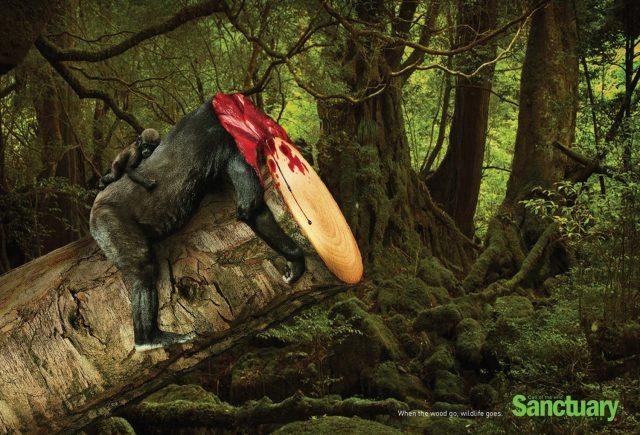 sanctuary-anuncio-protecao-devastacao-meio-ambiente-gorila-blog-geek-publicitario