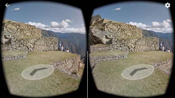 Google street view VR mode