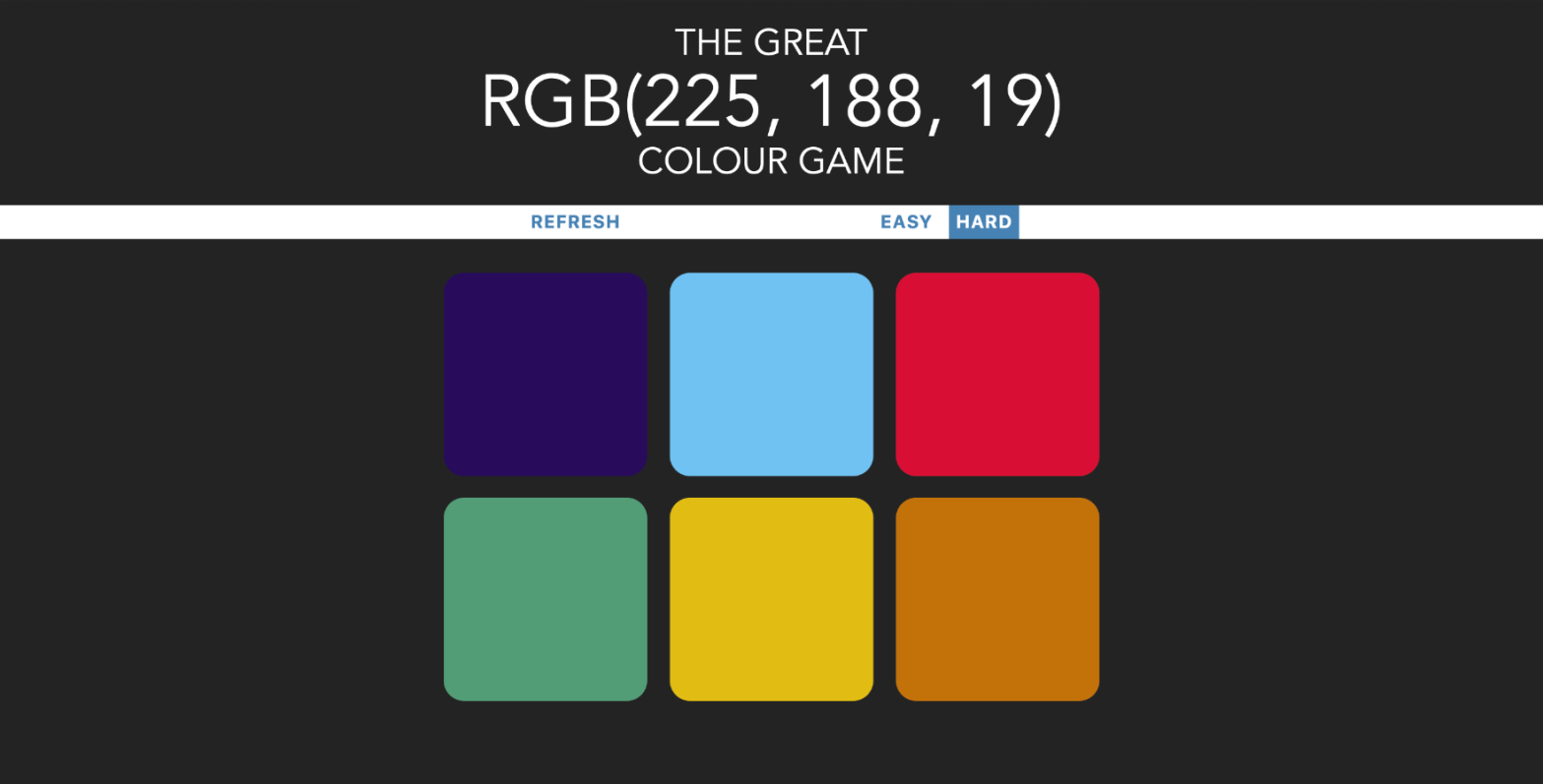 RGB colour game updated UI