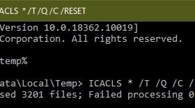 reset ntfs permissions