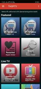 Watch Live IPL 2019 Free using THOP TV