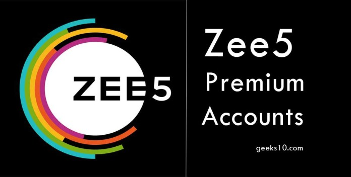 Free Zee5 Premium Accounts and Passwords 2019
