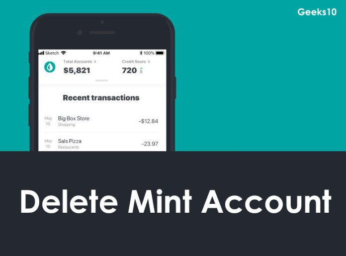 How to Delete Mint Account