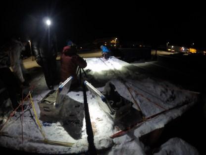 Glacier rescue set up