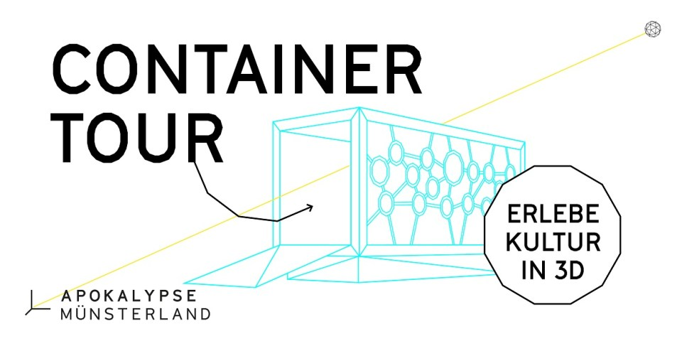 Die Container-Tour startet am 23. August am Hafenplatz in Münster. Grafik: Münsterland e.V.