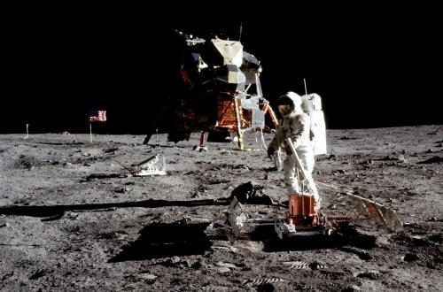 Die Mondlandung. Credit: NASA/Neil Armstrong