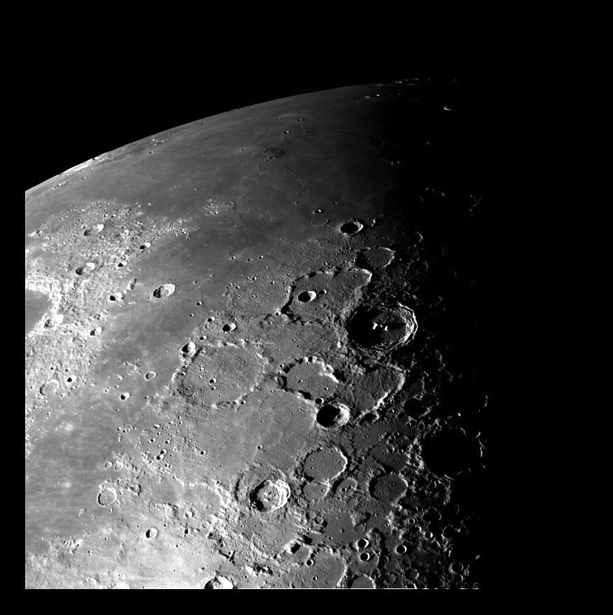 Der Nordpol des Mondes. Credit: NASA/JPL