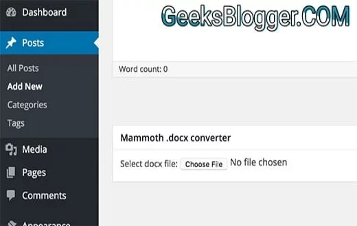 Easiest Way to Import Word Document into WordPress 1