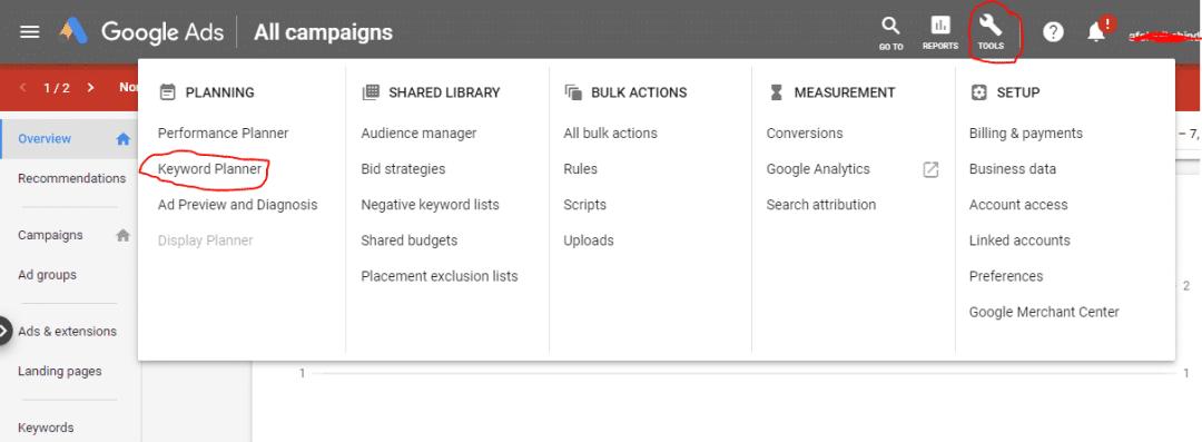 Top Free Keyword Research Tools (Keyword Planner)