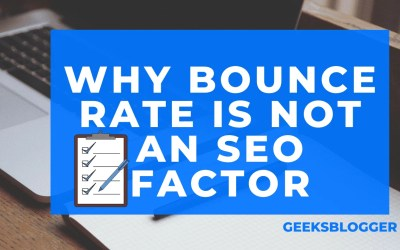 Why bounce rate is not an SEO factor