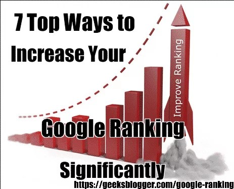 7 Top Ways to Increase Your Google Ranking Significantly